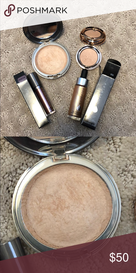 Cover Fx Highlighter Bundle Includes Perfect Light Highlighting Powder In Moonlight Mini Perfect Light Highlighti Cover Fx Highlighter Cover Fx Highlighter