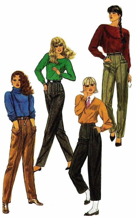 Womens Tapered Pants Two Lengths Pleats Pockets by yourpatternshop