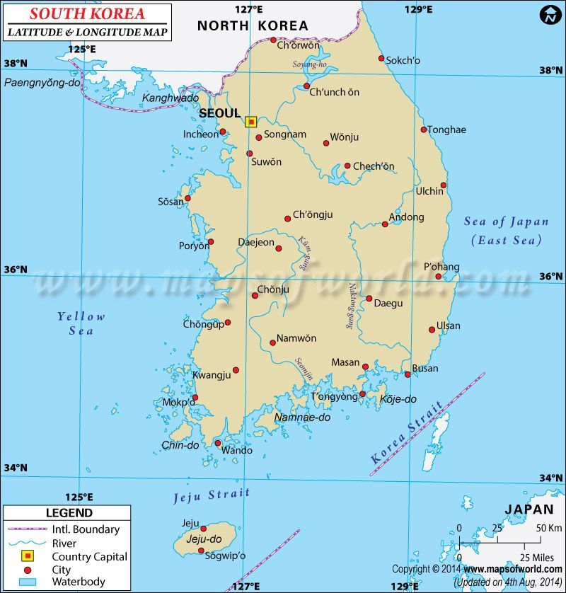 South korea Latitude and Longitude Map Koreans Soul Pinterest