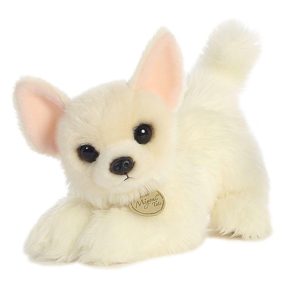 Aurora world miyoni tots long coat chihuahua white puppy