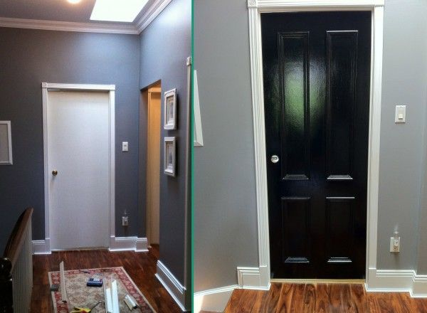 4 Panel Door Before And After Updated Interior Doors And Other Diy