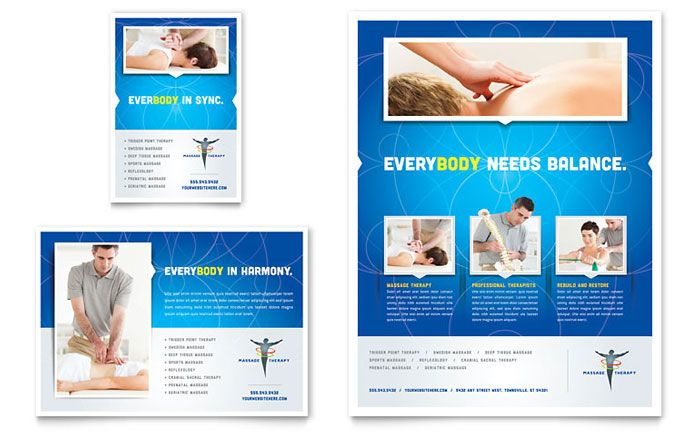 Reflexology And Massage Flyer And Ad Design Template By