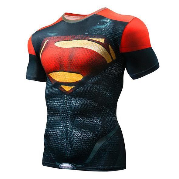 Black Spider man Armor Men Compression Shirts Cosplay T-Shirts