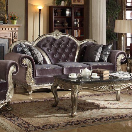 I must have this in my boudoir!!  Walmart....  who knew??  Meridian Furniture Inc Roma Sofa with Accent Pillows