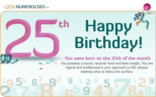 day of birth 25 december numerology
