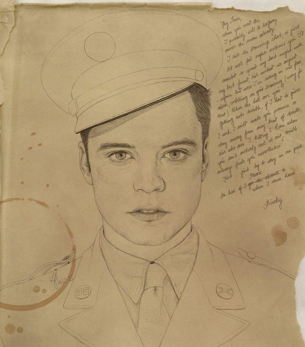 Bucky Barnes drawing   cap & company   Marvel drawings