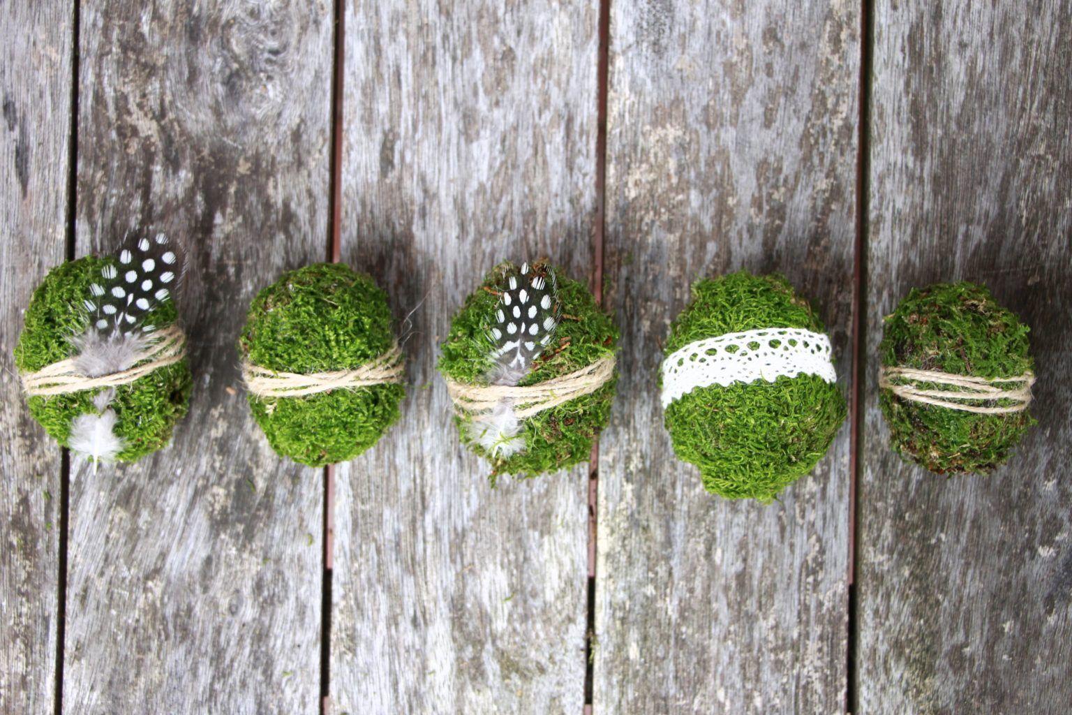 Osterdeko basteln: DIY für Moos-Ostereier - Lavendelblog
