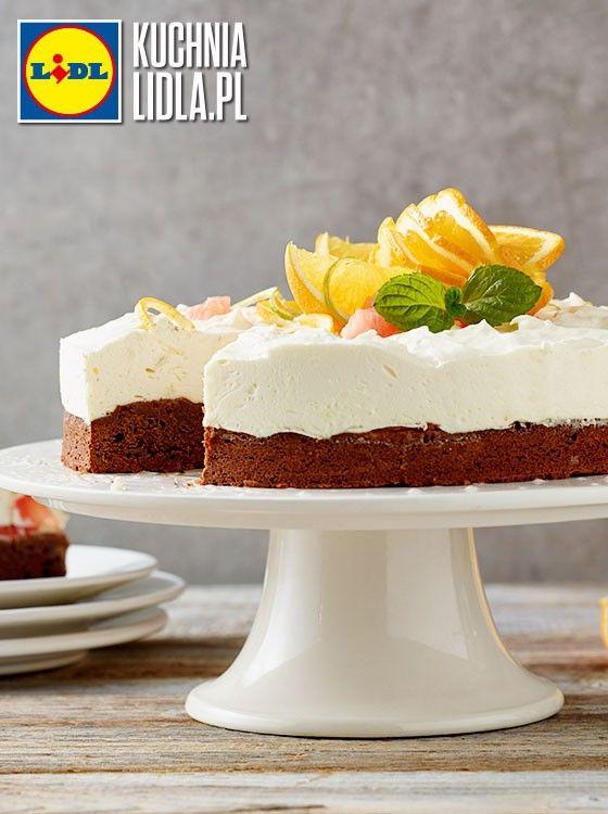 Brownie Z Bita Smietana I Cytrusami Kuchnia Lidla Lidl Polska Pawelmalecki Brownie Cytrusy Desserts Cheesecake Mini Cheesecake