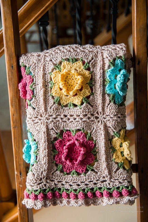 Rebekah\'s Flower Afghan By Aimee Cunningham - Free Crochet Pattern ...