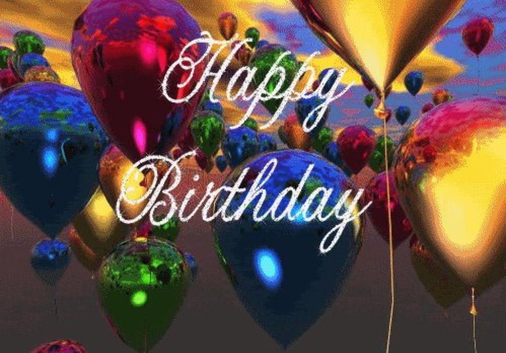 Гифы с днем рождения шарики
