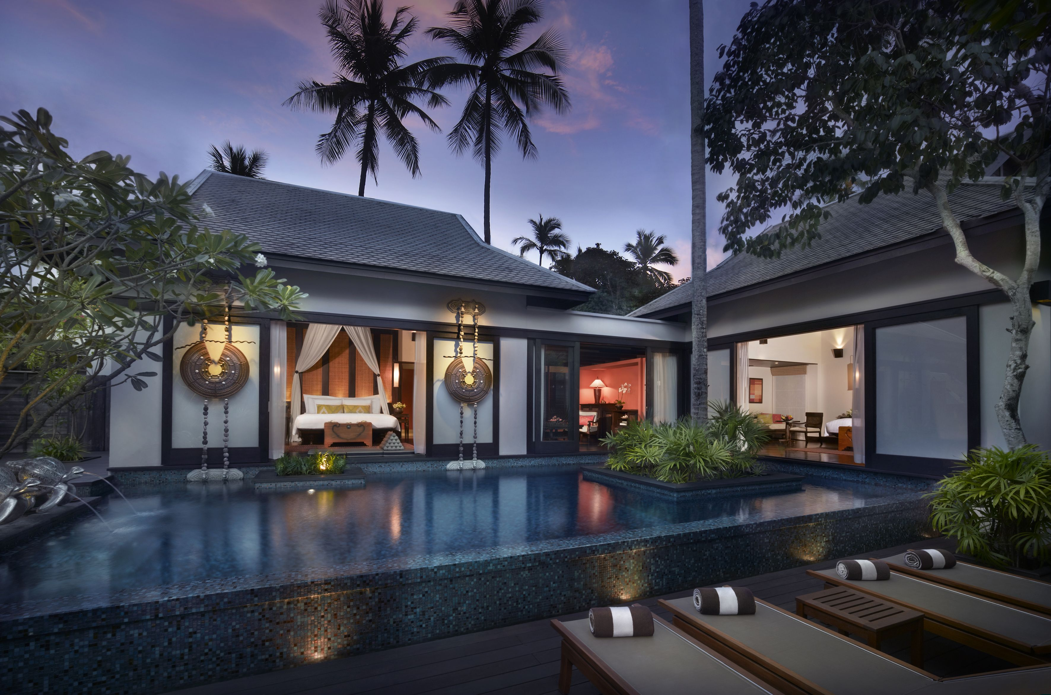 Beautiful Thai style private pool villa design. Best sunsets at ...