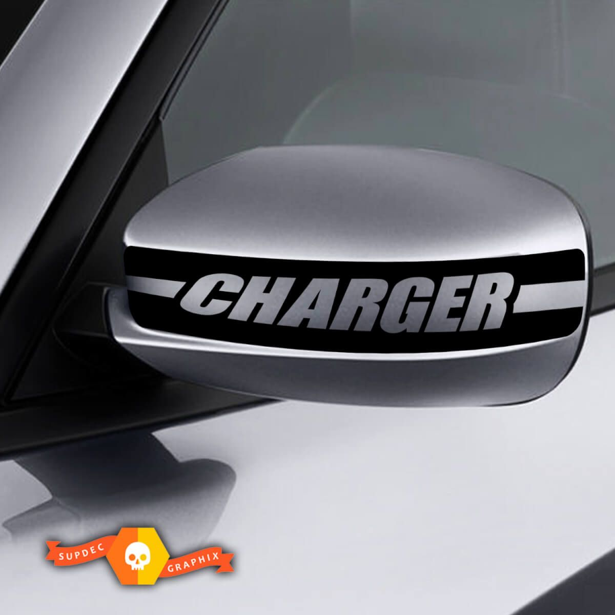 Dodge Charger Mirror Decal Sticker Charger Retro Graphics Fits To Models 2011 2016 Car Decals Vinyl Mirror Decal Dodge Charger [ 1200 x 1200 Pixel ]