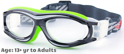 c7490faefd 13+ yrs to Adults  Sports Goggles BL028 Black Green (Prescription Rx ...