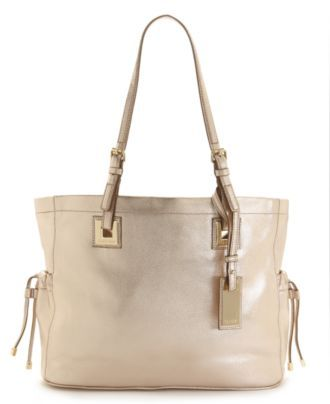 Calvin Klein Handbag, Exclusive Leather Tote in Champagne