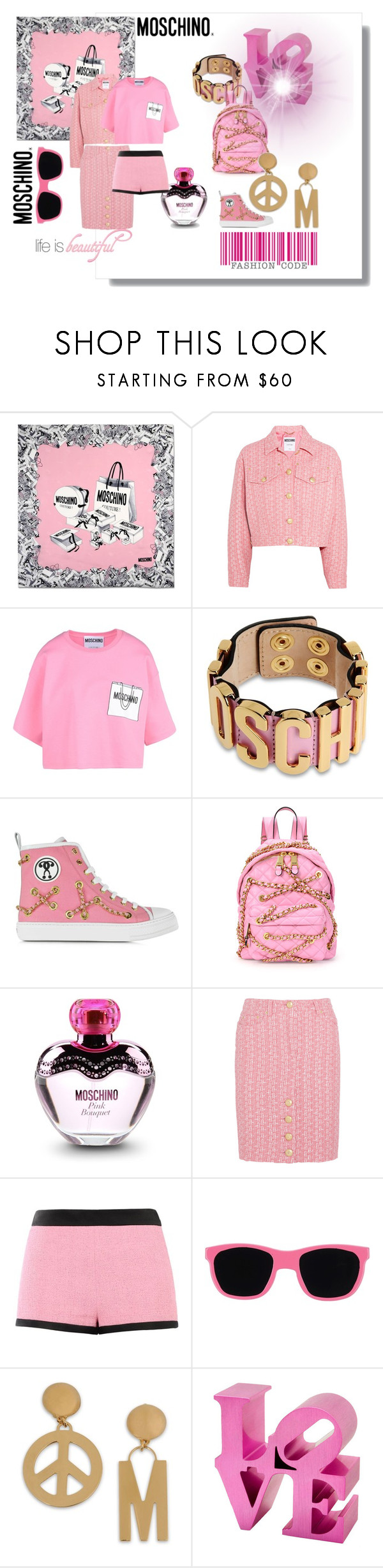 """LOVE MOSCHINO"" by nurinur ❤ liked on Polyvore featuring Moschino"