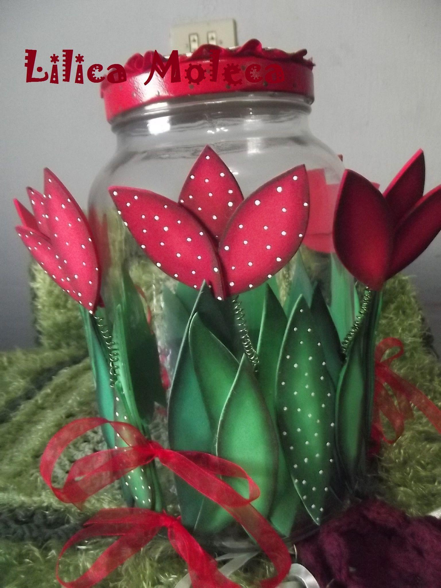 Resultado de imagen para frascos decorados con goma eva for Envases de vidrio decorados