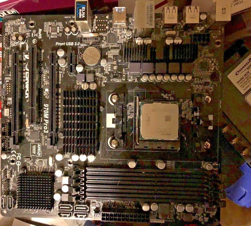 Used ASRock 970M Pro3 Micro ATX Motherboard AM3+/AM3 + AMD