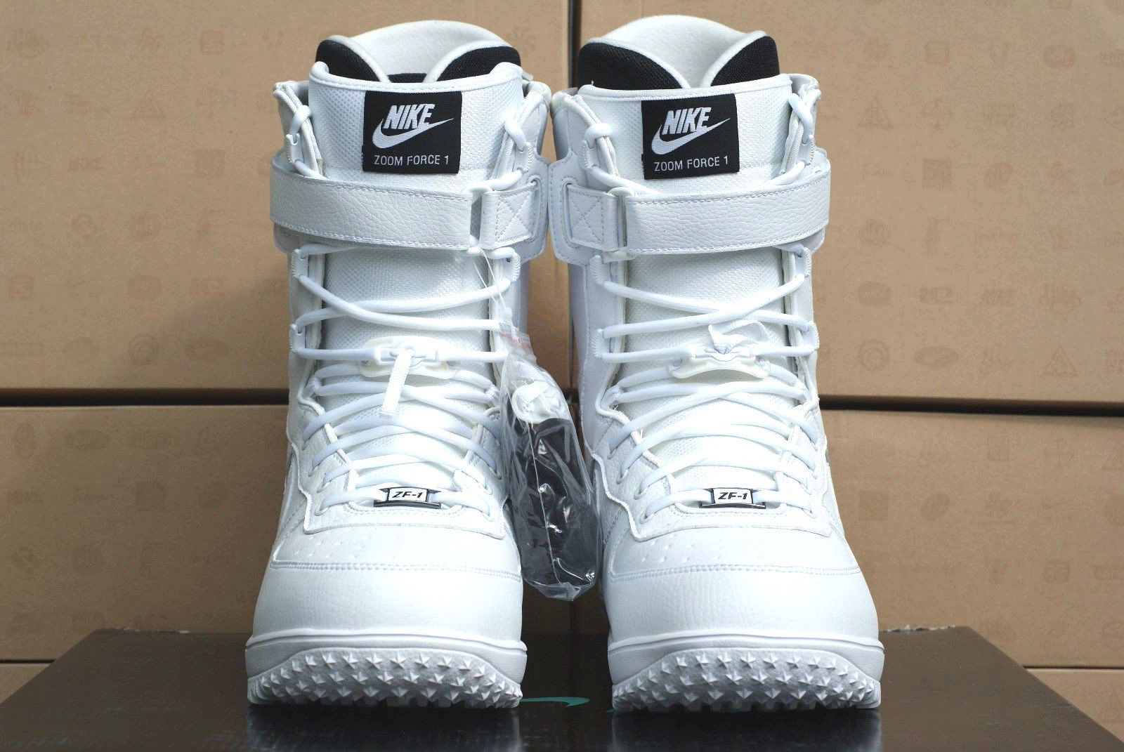 Nike zoom force 1 snowboarding boots white out edition air