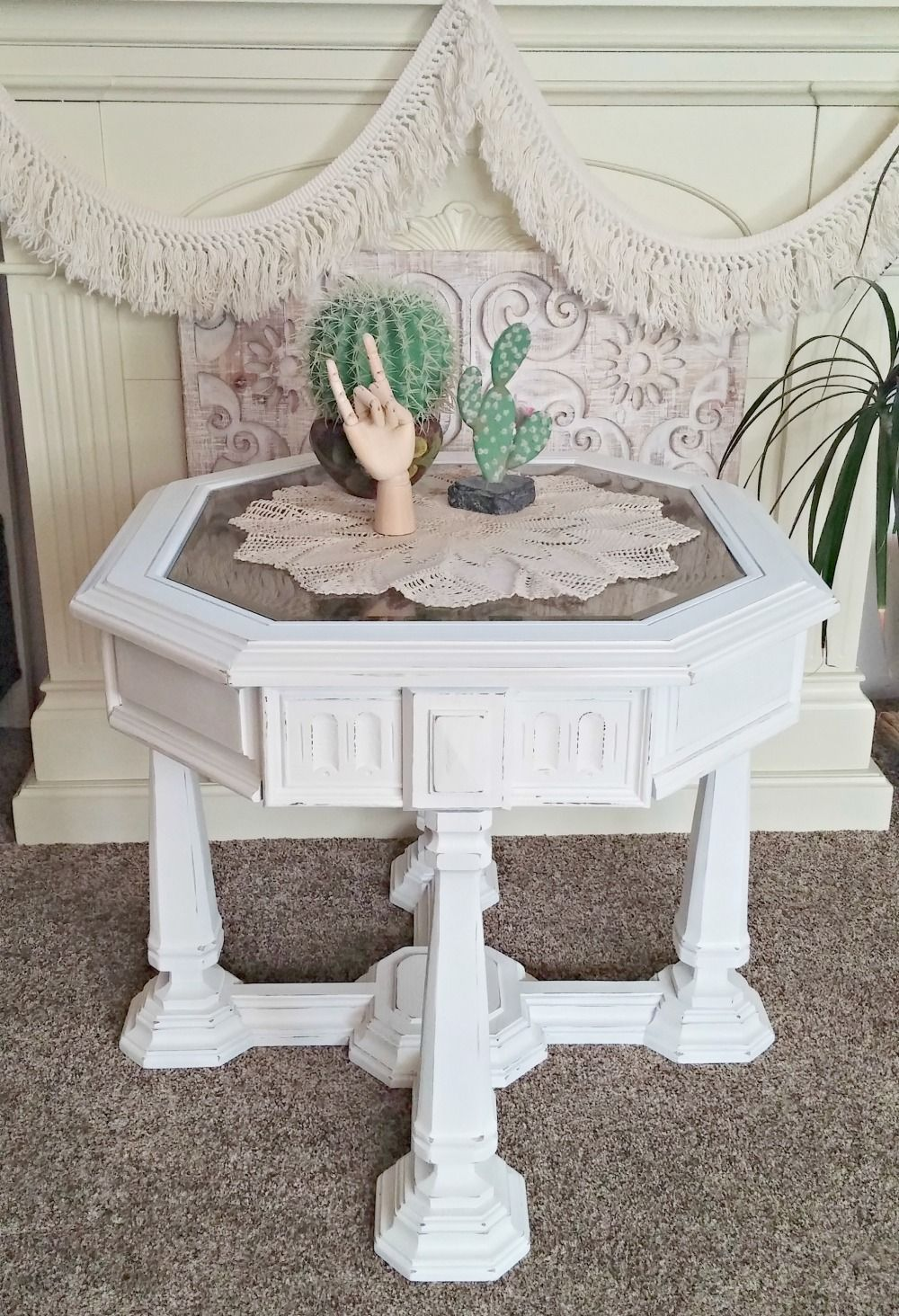 1970 s gothic style end table makeover in 2018 boho rooms decor rh pinterest com
