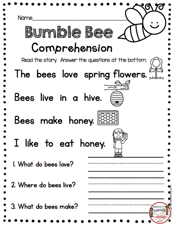 FREEBIE Spring Writing For Kindergarten Printables - FREE Writing For K… In  2020 Reading Comprehension Kindergarten, Kindergarten Reading Worksheets,  Kindergarten Reading