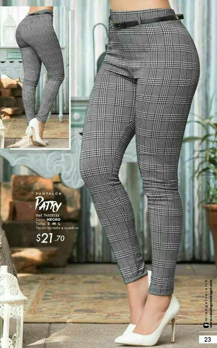 Pantalon De Cuadros Pantalones De Moda Pantalones De Moda Mujer Pantalones De Vestir