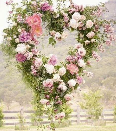 Coroa de Coração com rosas!!! <3