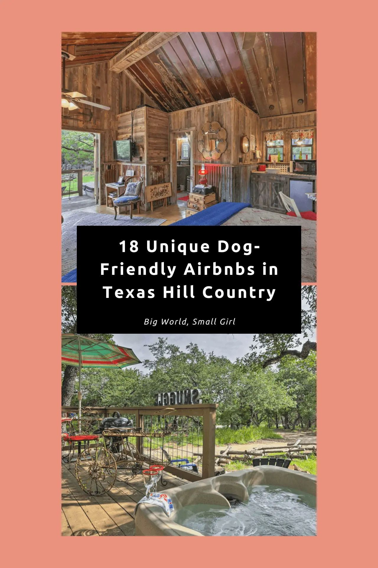 The Coolest Dog Friendly Rentals In Texas Hill Country Dog Friendly Rentals Dog Friendly Vacation Dog Friends