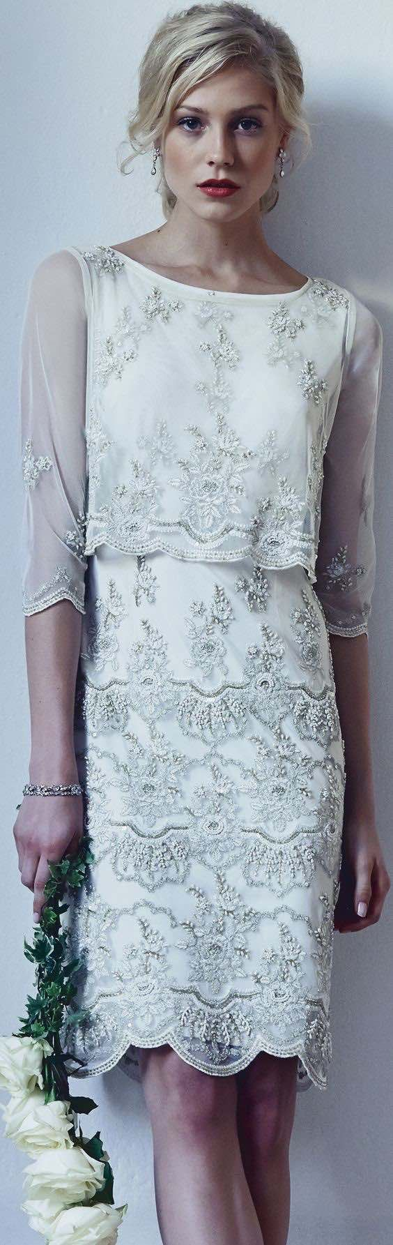 vestidos de novia cortos y fabulosos para tu boda wedding dress
