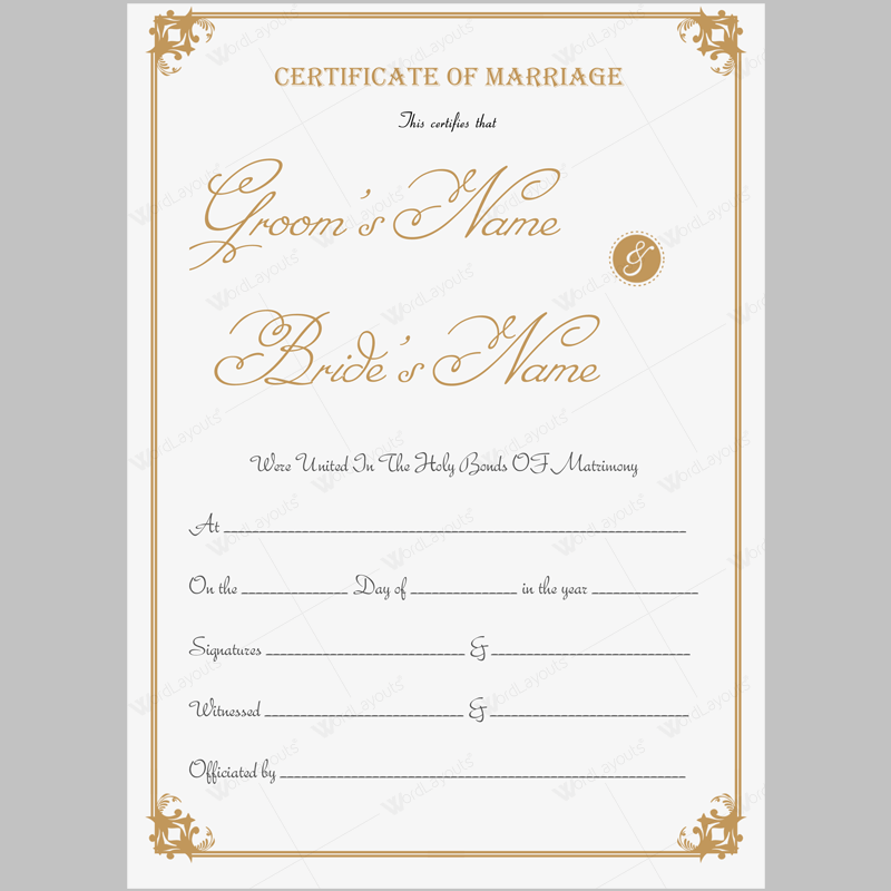 marriage certificate 13 marriage pinterest certificate