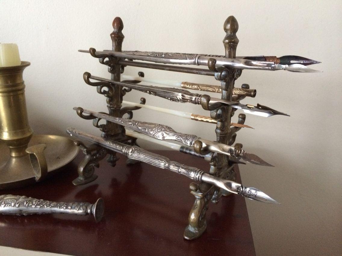 Image result for brass calligraphy pens holder