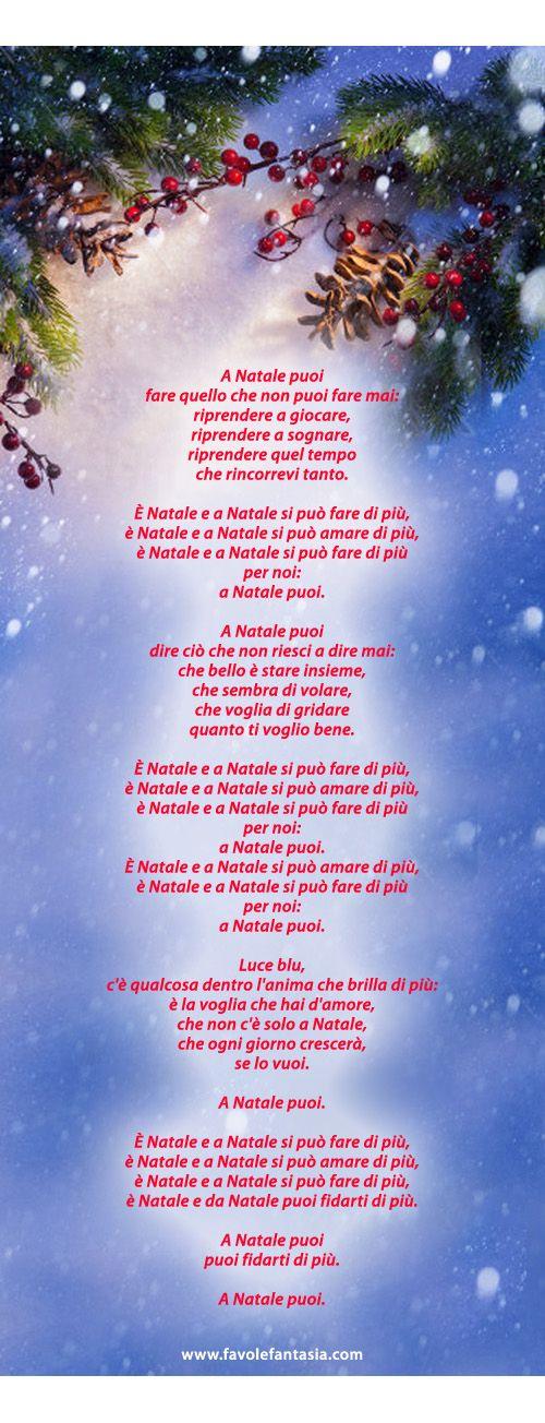 Canzone Di Natale A Natale Puoi.A Natale Puoi La Canzone Natale Natale Bambini Di