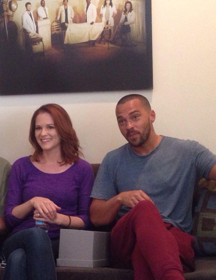 Sarah n Jesse | Sarah Drew and Jesse Williams on set Season 12 ...