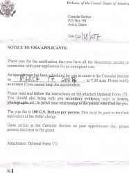 Appointment Letter Visa Interview And Confirm From The Embassy