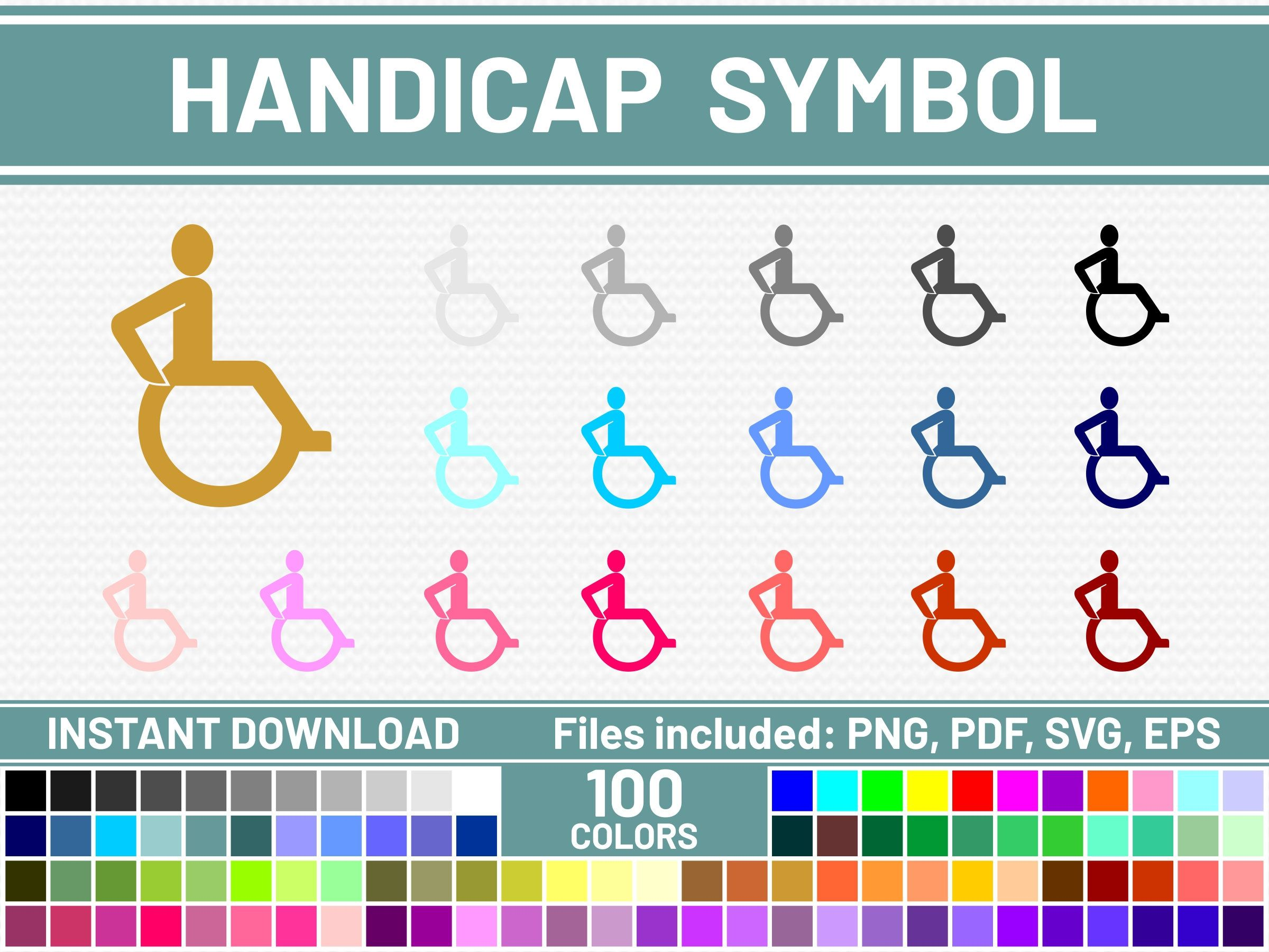 100 Handicap Svg Files Commercial Use Svg Bundle Handicap Etsy Printable Planner Stickers Erin Condren Printable Stickers Budget Stickers