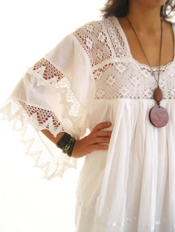 Vestidos hindu cortos blancos