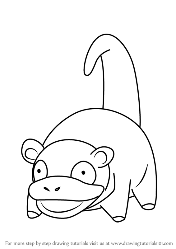 Learn How To Draw Slowpoke From Pokemon Go Pokemon Go Step By Step Drawing Tutorials Pokemon Go Pokemon Pokemon Coloring Pages