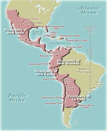 Map Of Spanish America Historical Maps Ap Us History
