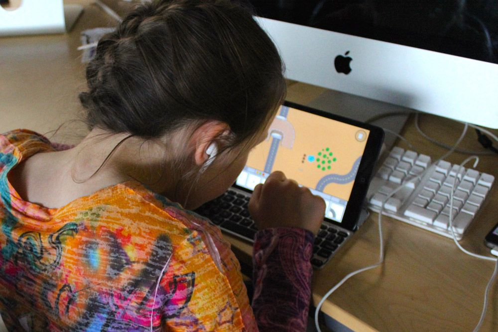 One of our awesome Super Nano Trucks iPad app testers in