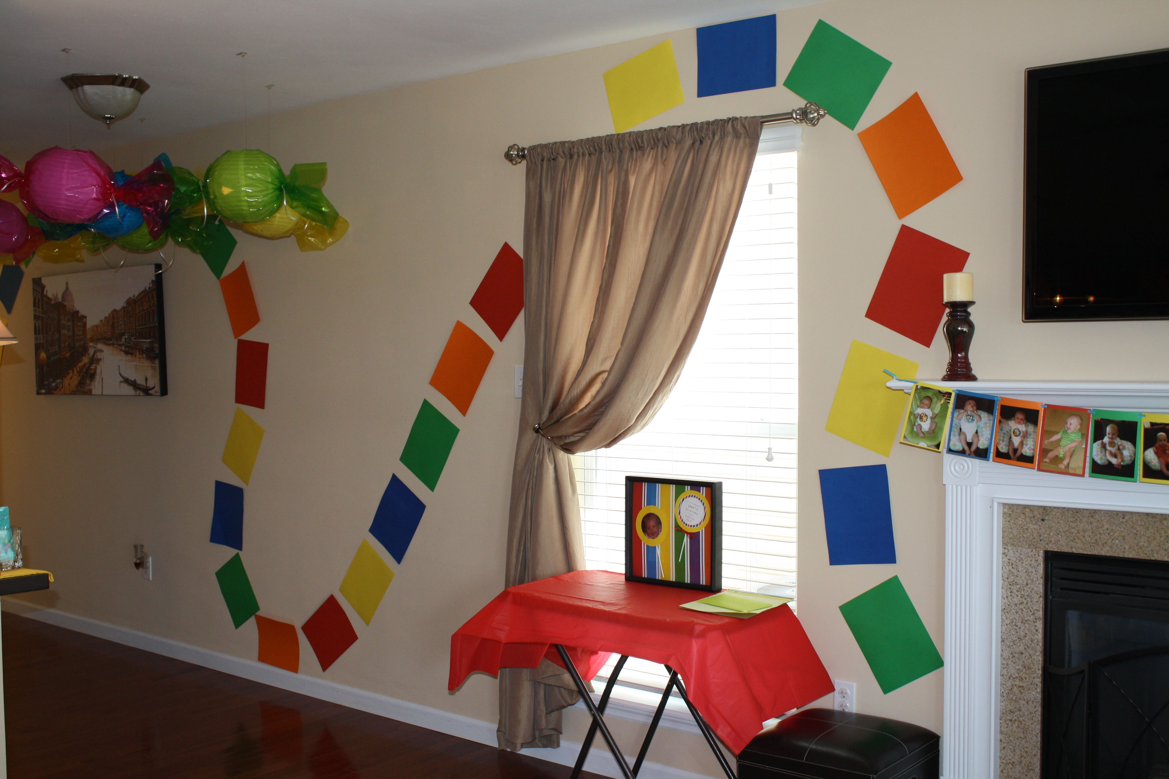 Candy Land Wall Decor To Look Like The Board Game Candy Land Birthday Party Game Night Decorations Candyland Party