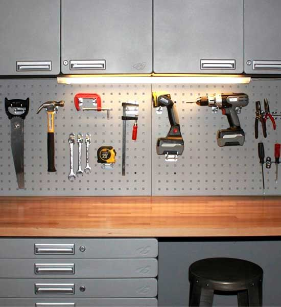 Tool Board For Steel Cabinets Is A Heavy Duty Steel Backsplash For