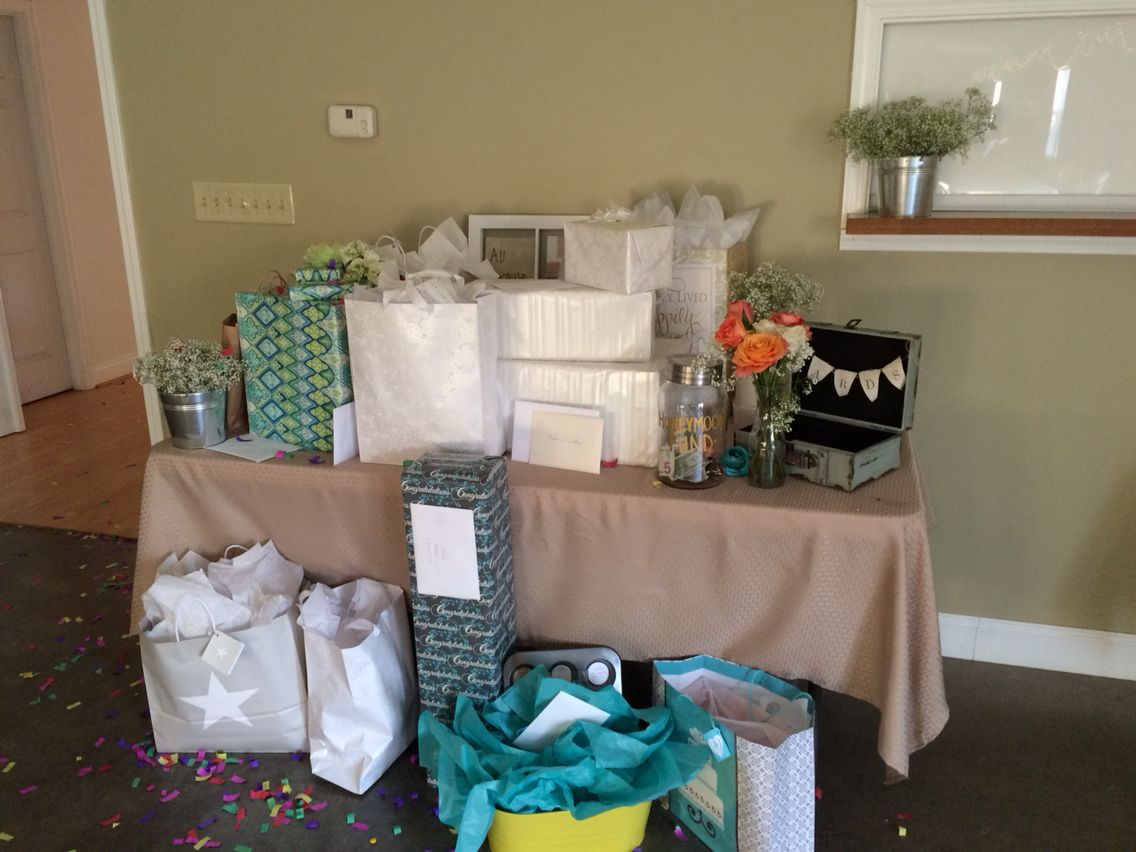 Wedding Gift Table Pics From Brianna And Codies Big Day