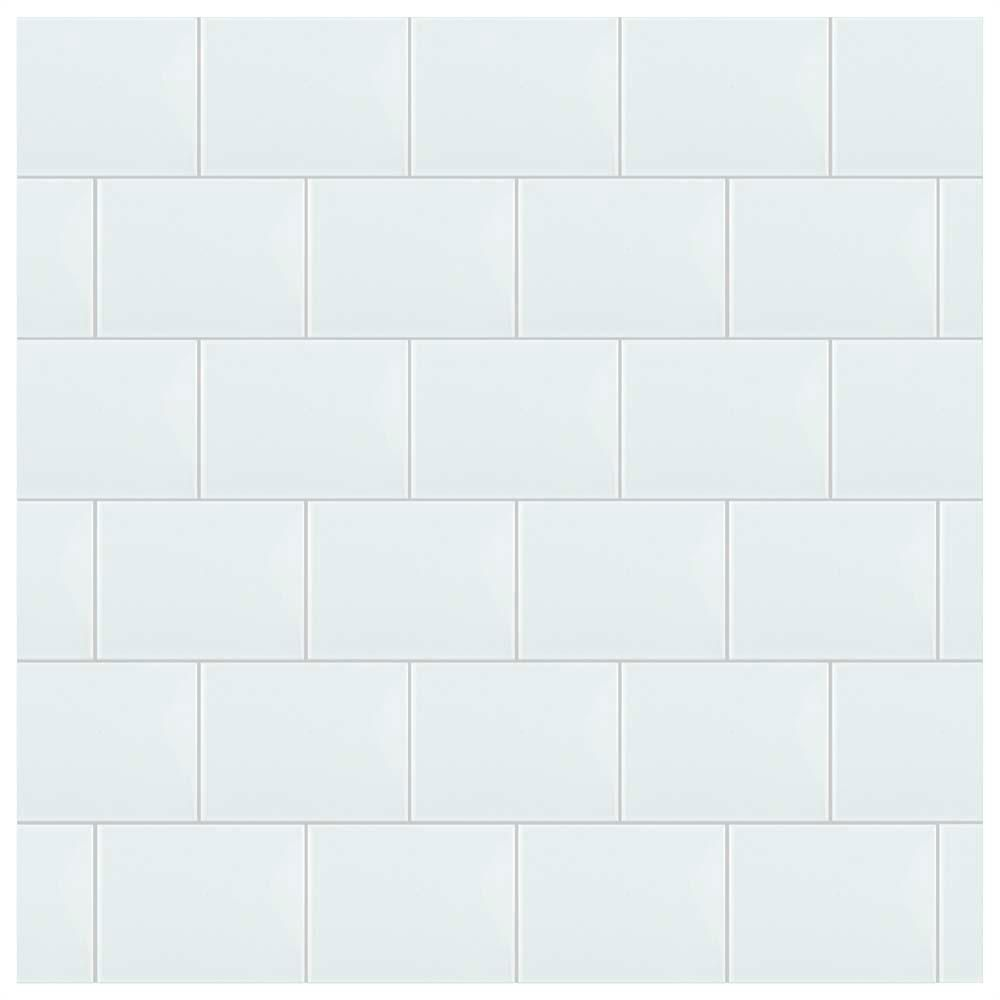 Merola Tile Park Retro White Ice 6 In X 8 Ceramic Wall 9 Sq Ft Case Wrbprwi The Home Depot