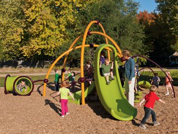 Weevos® #playgrounds are just right for kids ages 2 to 5. The #innovative challenges get them ready to move to the Evos playsystem.