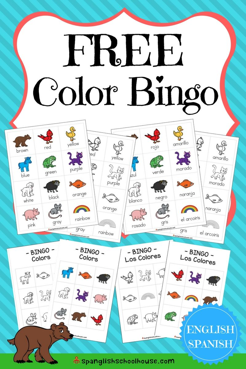 Free Bilingual Color Bingo In English And Spanish Spanish Lessons For Kids Spanish Colors Learning Spanish [ 1200 x 800 Pixel ]
