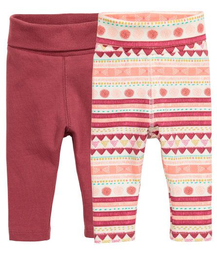 2-pack Leggings | Dark red | Kids | H&M US