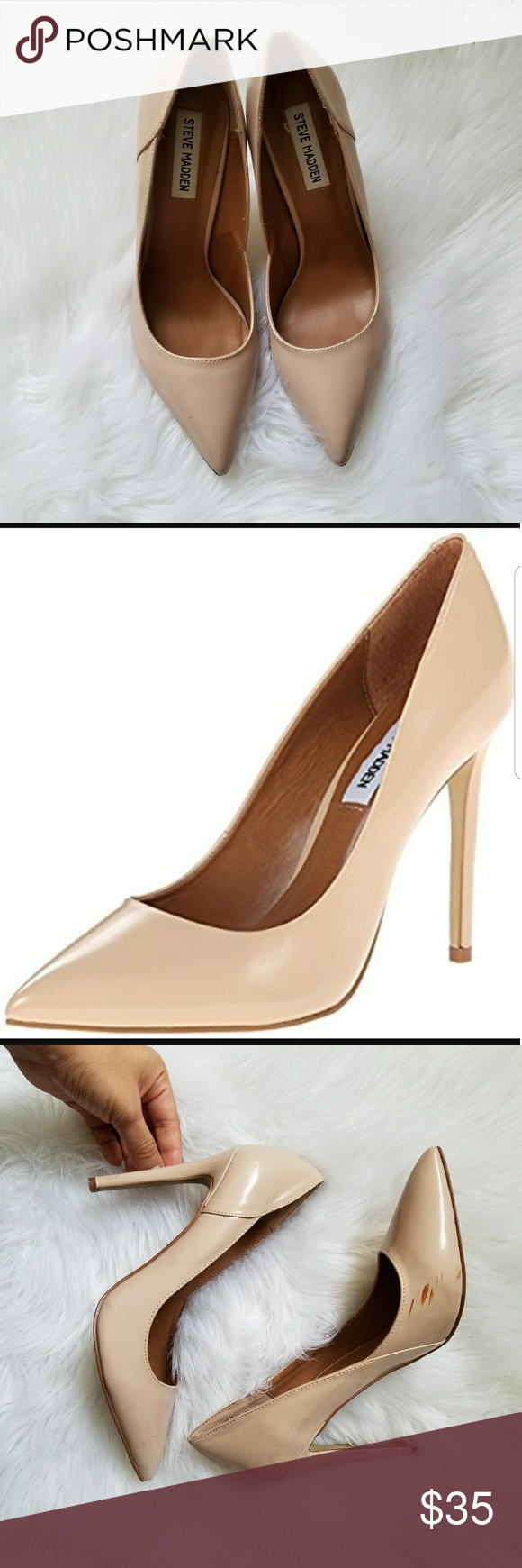 Steve Madden PALLASS Nude Blush Pumps Steve Madden Pallas Blush Leather  Pointed Pumps will rock your