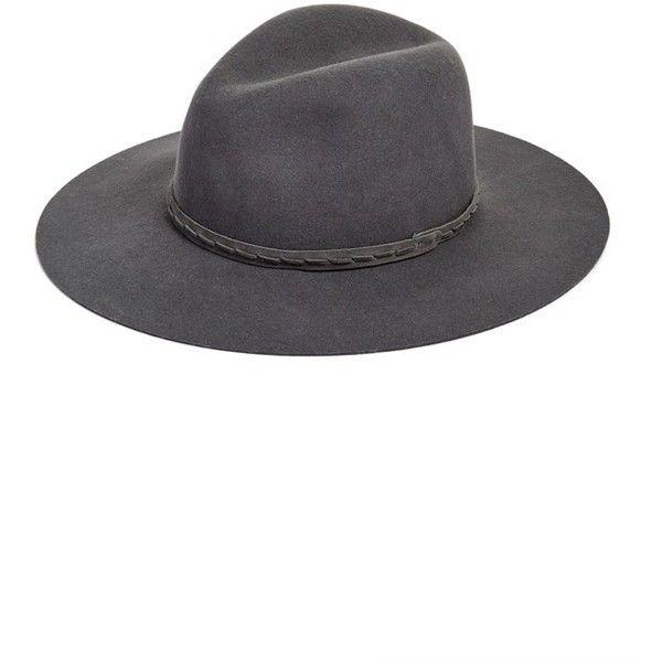 Women's Rag & Bone Wide Brim Fedora (12.765 RUB) ❤ liked on Polyvore featuring accessories, hats, grey, grey fedora, gray hat, wide brim fedora, band hats and gray fedora