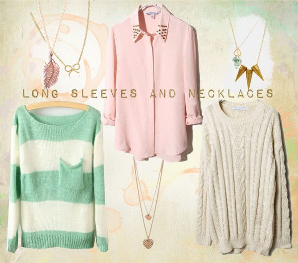 """""""Long Sleeves and Necklaces"""" by makenzieambrose on Polyvore"""
