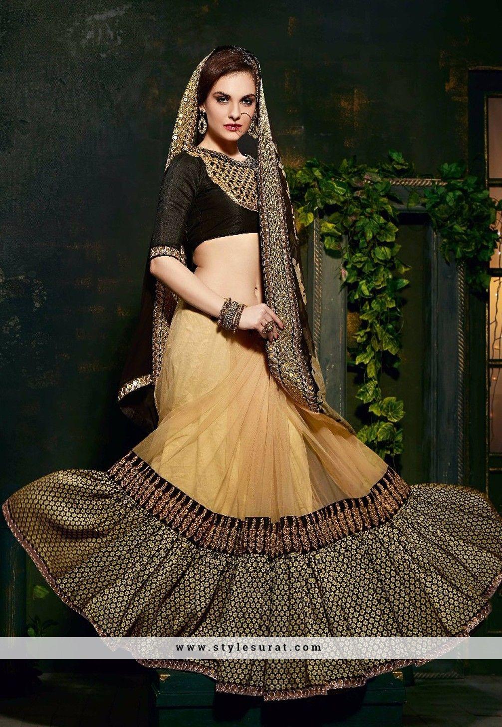 Black And Cream Majestic Designer Wedding Wear Saree-35755 | Sarees ...