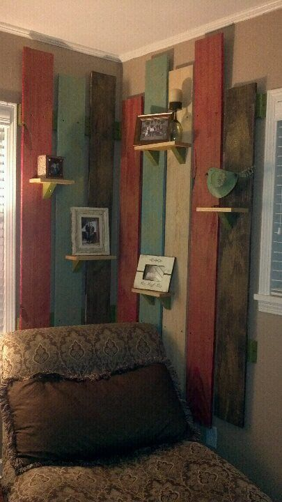 Painted And Glazed Plank Wall House Pinterest